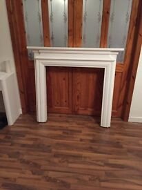Solid wood mantel piece from valley services
