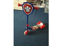 Blie paw patrol scooter