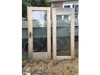Good condishion wooden patio door and windows for sale