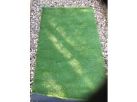 Artificial Grass 66x36 inch rectangle piece.