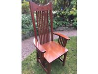Amish cherrywood dining chairs