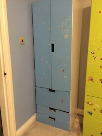 Kids wardrobes double door and drawers
