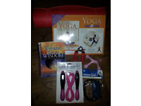 Yoga mat and Yoga DVD pack - incl a well being pack