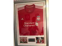 Liverpool F.C. signed Jamie carragher framed shirt