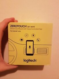 Logitech air vent. Hands free smart car mount woth voice control. ANDROID ONLY.