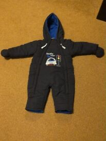 Navy snowsuit for 12 month old