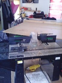 Trend 110 router table with cabinet for cutters