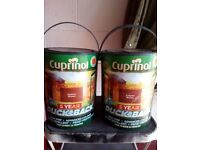 "Cuprinol Ducksback shed and fence paint ""Autumn Brown"""