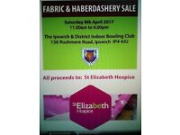 Fabric and haberdashery sale for St Elizabeth Hospice (Sewing supplies)