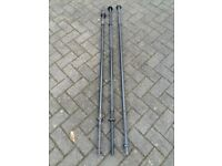 5FT SOLID CAST IRON WEIGHTS BARBELLS IN CHROME & BLACK