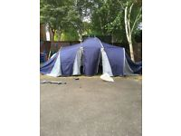 9 man tent with 3 bedrooms