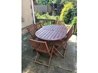 Garden Table with 6 chairs and cover