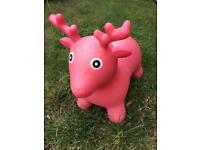 Space hopper pink dear child's sit on toy