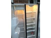 Whirlpool Silver American fridge freezer..,,,Cheap free delivery