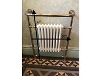 Combined brass central heating radiator/towel rail