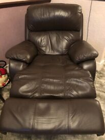 Leather Sofas and Recliner Chair