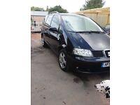 """2001 """"51"""" Seat Alhambra 7 Seater 1.9Tdi 6 Speed 11 Months MOT"""