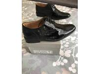 Boys size 3 formal wedding shoes worn once