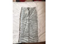 River island midi zipped skirt