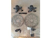 Promax Render R Disc Brakes, discs/rotors, pads and screws - Complete Set