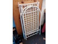 Metal frame cot and mattress