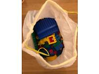 50 litres of unassorted Duplo Lego blocks