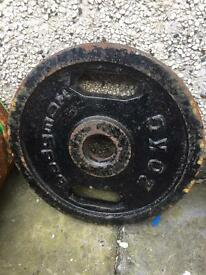 Olympic weights plates various sizes