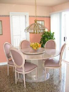 Dining Table Marble Round Buy And Sell Furniture In Toronto GTA Kijiji