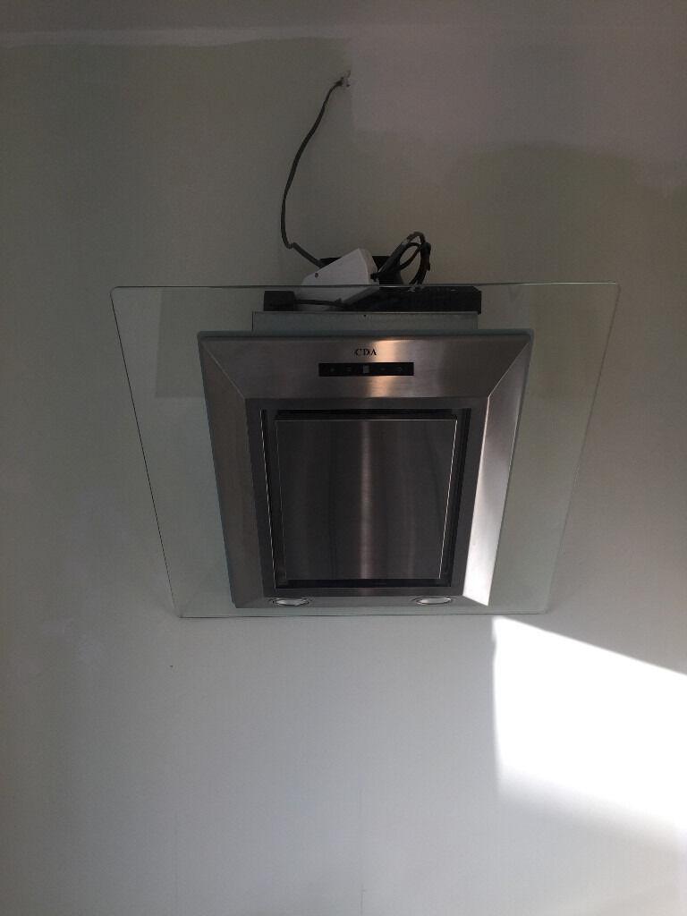 cda designer angled cooker hood extractor fan evg6ss. Black Bedroom Furniture Sets. Home Design Ideas