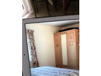Wardrobe - double with mirror centre panel