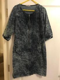 Denim ladies dress/tunic size M
