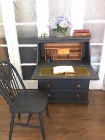 VINTAGE CHEST/DESK WRITING TABLE FREE DELIVERY LDN🇬🇧+CHAIR
