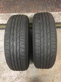 Bridgestone Dueler tyres 2x