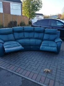 Genuine Leather Harvey s leather sofa. No marks , no scratch