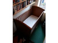 Mamas and Papas Cot bed with mattress & Cot-top Changer - Free Delivery within Nott'm this week only