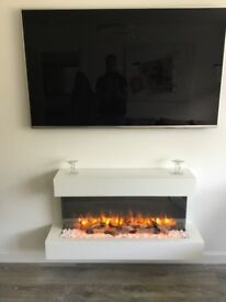 Electric wall mounted eco fire