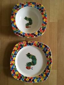 Hungry caterpillar plate and bowl