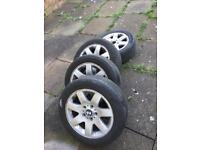 bmw 3 series alloy wheels with tyres 205/55/r16 320d 2004