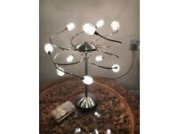 Attractive modern large 50 cm chrome cluster lights table lamp
