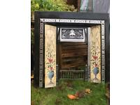 Victorian Fireplace Insert with tiles