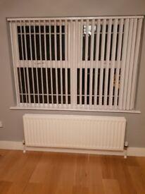 White pvc vertical blinds