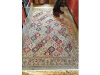 "Late arties wool & silk Laura Ashley carpet huge 92""x59"""