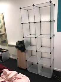 Photo frame +Interlocking Plastic Wardrobe Cabinet Open Storage and Organizer with Translucent Panel
