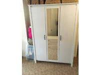 White 3 Door Mirrored Wardrobe for Sale (Fantastic Condition) --- *Quick Sale - Open to Offers*