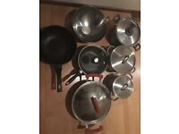 £5 each, take your pick - Pots, pans, cookware, nonstick, stainless steel, wok