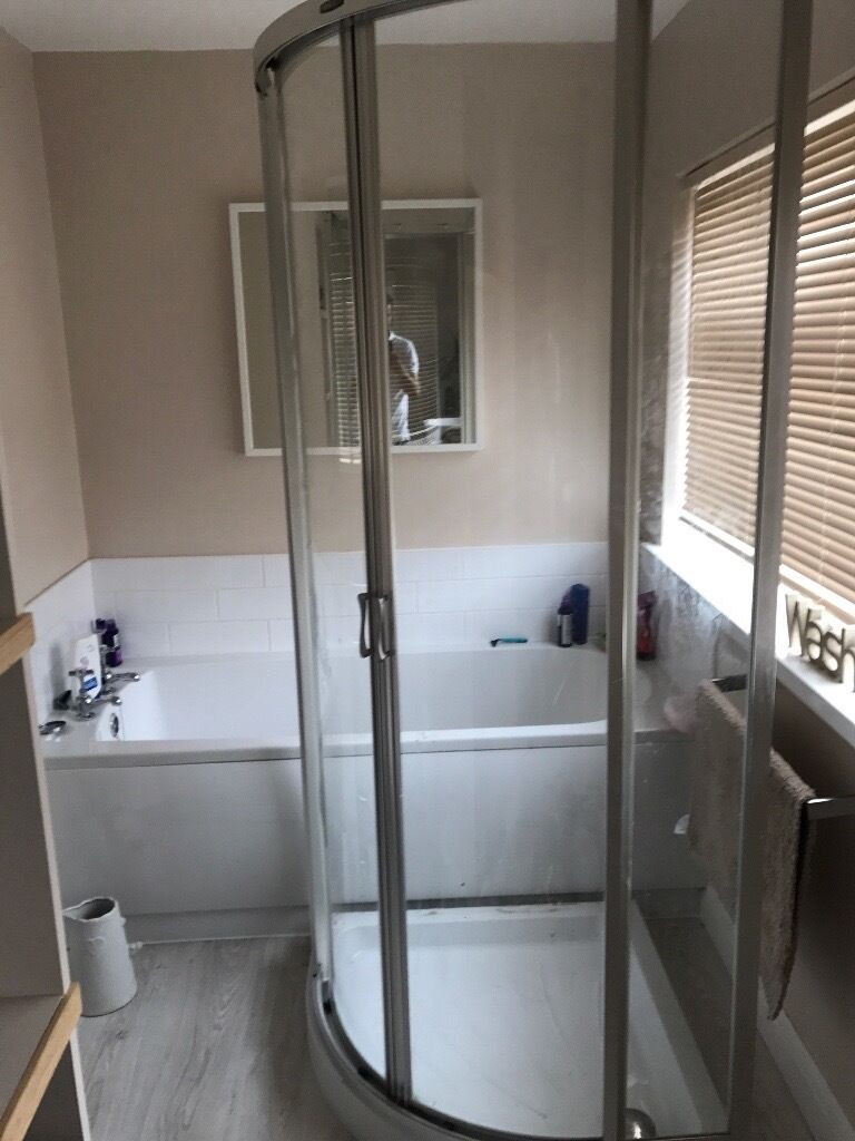 Shower Enclosure With Mira Tray Toilet Sink In Sunderland