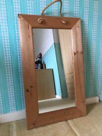 Wooden framed mirror 76 x 46 cm