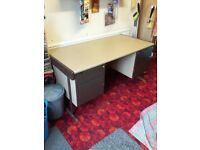 Large Metal Framed Office Desk