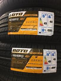 195/60/15 88V BOTO PAIR OF 2 tyres
