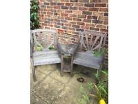 Garden Bench Companion Love Seat